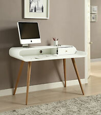 Jual Furnishings PC702 Retro Vintage Computer Desk - White & Ash