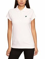 LYLE & SCOTT GREEN EAGLE WOMEN'S SHORT SLEEVE COTTON POLO SHIRT SIZE M PINK