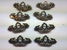 8 vintage antiqued brass ornate colonial dresser drawer pulls cabinet door o bedroom furniture drawer handles