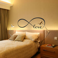 Love Infinity Quote Bedroom Wall Stickers Vinyl Art Decal Mural Decor Removable