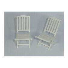 Creal 30871 Gartenstühle weiss (2er Set ) 1:12 für Puppenhaus  NEU! #