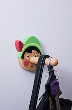 Kikkerland Colourful Wooden Honest Boy Pinocchio Coat Hook Children Door Hanger