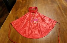 tie back red satin feel embroidered sexy top BNWOT free post D14