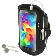 Black Jogging Sports Armband for Samsung Galaxy S5 MINI SM-G800 Running Fitness
