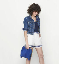 Amazing MAJE Electric Blue Suede Tassel Fringed Bag With Strap RRP £208