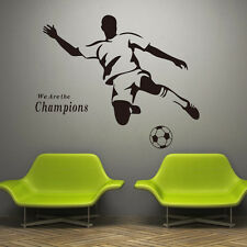 3D Football Soccer DIY Wall Stickers Decals Home Decor Art Removable Vinyl Mural