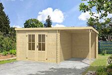 Gartenhaus ca. 500x300 cm Gerätehaus Blockhaus Schuppen Holzhaus Holz 28 mm