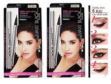 2x Mistine Maxi Black Ultimate Eyeliner Sharp Extreme with Acrylamides Copolymer