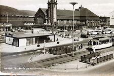 24386 AK Hagen i. W. Hauptbahnhof mit Straßenbahn um 1960