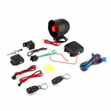 1 Car Vehicle Burglar Protection System Alarm Security+2 Remote Control ER