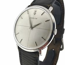 CORUM Vintage Men's Stainless Steel 34mm watch with Box 1960's, Working