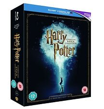 HARRY POTTER COMPLETE 8 FILM COLLECTION BLU RAY BOXSET 16 DISCS REGION FREE
