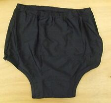 Ladies/Girls size 12-14 Netball Knickers Sports Panties stretchy cotton Black