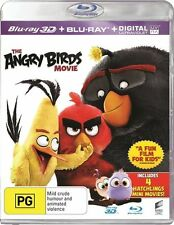 The Angry Birds Movie 3D (Blu-ray 2016, 2-Disc Set) BRAND NEW & SEALED BLU-RAY