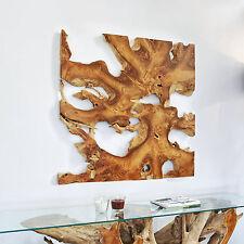 Teakholz Wandbild NAGA 120cm x 120cm Wanddeko Wanddekoration Teak Wurzelholz