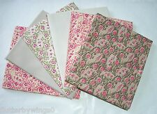 BUNDLE OF 6 FAT QUARTERS 100% COTTON PAISLEY PINKS CRAFT QUILTING PATCHWORK