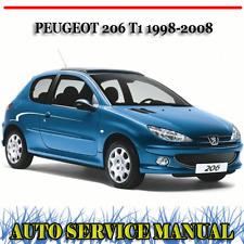 PEUGEOT 206 T1 1998-2008 FACTORY WORKSHOP SERVICE REPAIR MANUAL ~ DVD