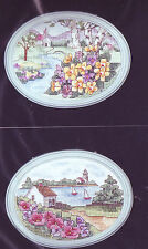 Wild Rose Cove AND Primrose Church Janlynn Counted Cross Stitch Kit + Frames