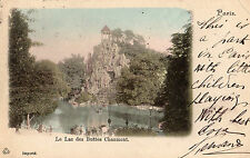 OLD POSTCARD -FRANCE - PARIS - Le Lac des Buttes Chaumont - 1903