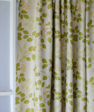 Olive Green Leaves print ring top EYELET Blockout Curtain 140x221cm ~ 1 panel