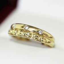 Gorgeous vintage Diamond and 18ct gold engagement ring, wedding band with bow