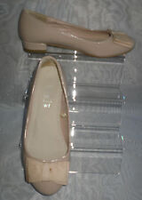 "FIORE Beige Synthetic Block Low Heel 1"" Court Shoes Size:4/37"