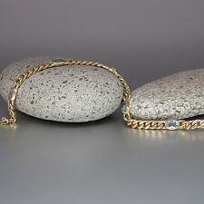 Armband Panzerarmband mit Aquarmarin Steinen in 585/14K Gelbgold