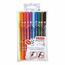 Herlitz my.pen 2in1 Fasermaler & Fineliner in Einem 10 er Pack sortiert