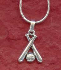 Softball Bat and Ball Necklace New including 18inch chain Baseball