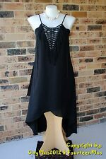 City Chic Dress - Size XL (22) - FRINGE FEVER MAXI DRESS - New with tags