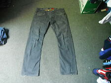 "River Island Straight Jeans Waist 36"" Leg 34"" Black Faded Mens Jeans"