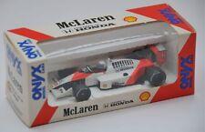 ONYX 003 McLaren Honda MP4/4 F1 diecast car Alain Prost BAR CODE decals 1:43rd