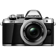 Olympus OM-D E-M10 Mark II Camera with 14-42mm EZ Lens - Silver