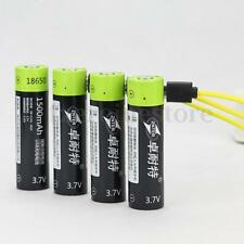 ZNTER 18650 3.7V 1500mAh USB Rechargeable 18650 Lipo Battery +Free Charger Cable