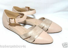 """Clarks ladies """"Coral Sunrise"""" oyster combi leather flat shoes size  4D.New"""