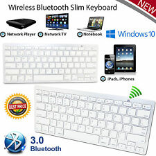 Bluetooth 3.0 Slim Wireless Keyboard for Macbook/Tablet/IOS /Android/Windows UK