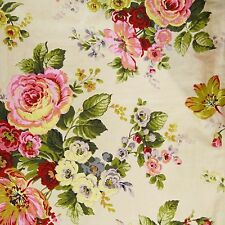 """Designer 43"""" Wide Floral Printed Cotton Fabric Sewing Craft Material By 1 Yd"""