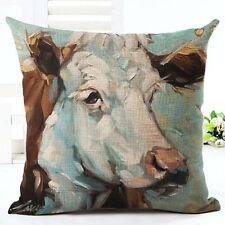 "Oil Painting Horse Pillow Case Cushion Cover Office Car Decor Square 18"" Linen"