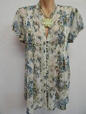 TARGET SIZE 14 LOVELY WHITE, BLUE ,GREEN FLORAL,BOHO TUNIC TOP
