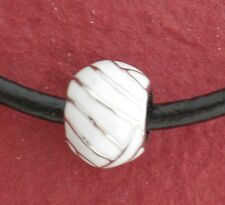 Netball Leather Necklace Show you love Netball white enamelled pendant