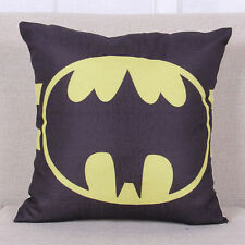 Batman Cushion Cover Cotton Linen Throw Pillow Case Bedroom Home Sofa Decor 18''