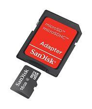 SANDISK 16GB Micro SD - microSD Karte 16 GB + Adapter
