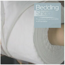"""New Poly Cotton Quality Full Bed Sheeting White Fabric 94""""/ 240cm Wide / Per Met"""