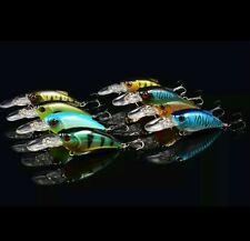 8 rattling spinning plug lure bass pike perch chub fishing tackle hook free post