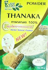 THANAKA Powder Thai Herbal Anti-Acne/ Aging Smooth Natural Facial Mask  20g.
