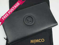 Mimco MIM Supernatural Travel Wallet Purse Matte Leather Black RRP $199 NEW
