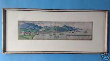Barock Kupferstich Hafen Malaga Granada Spanien Braun und Hogenberg Köln ~1595