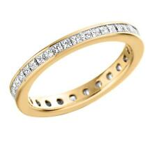 Fabulous 1.00Ct Princess Diamond Channel Set Full Eternity Ring in 9k Y. Gold