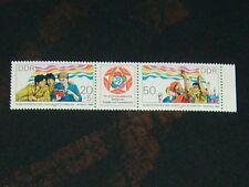 DDR 1985 postfrisch 2959 - 2960 Dreierstreifen ** Jugend + Studenten in Moskau