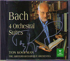 Ton KOOPMAN Signiert BACH 4 Orchestral Suites ERATO CD Amsterdam Baroque